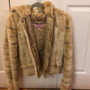 Juicy couture fur jacket